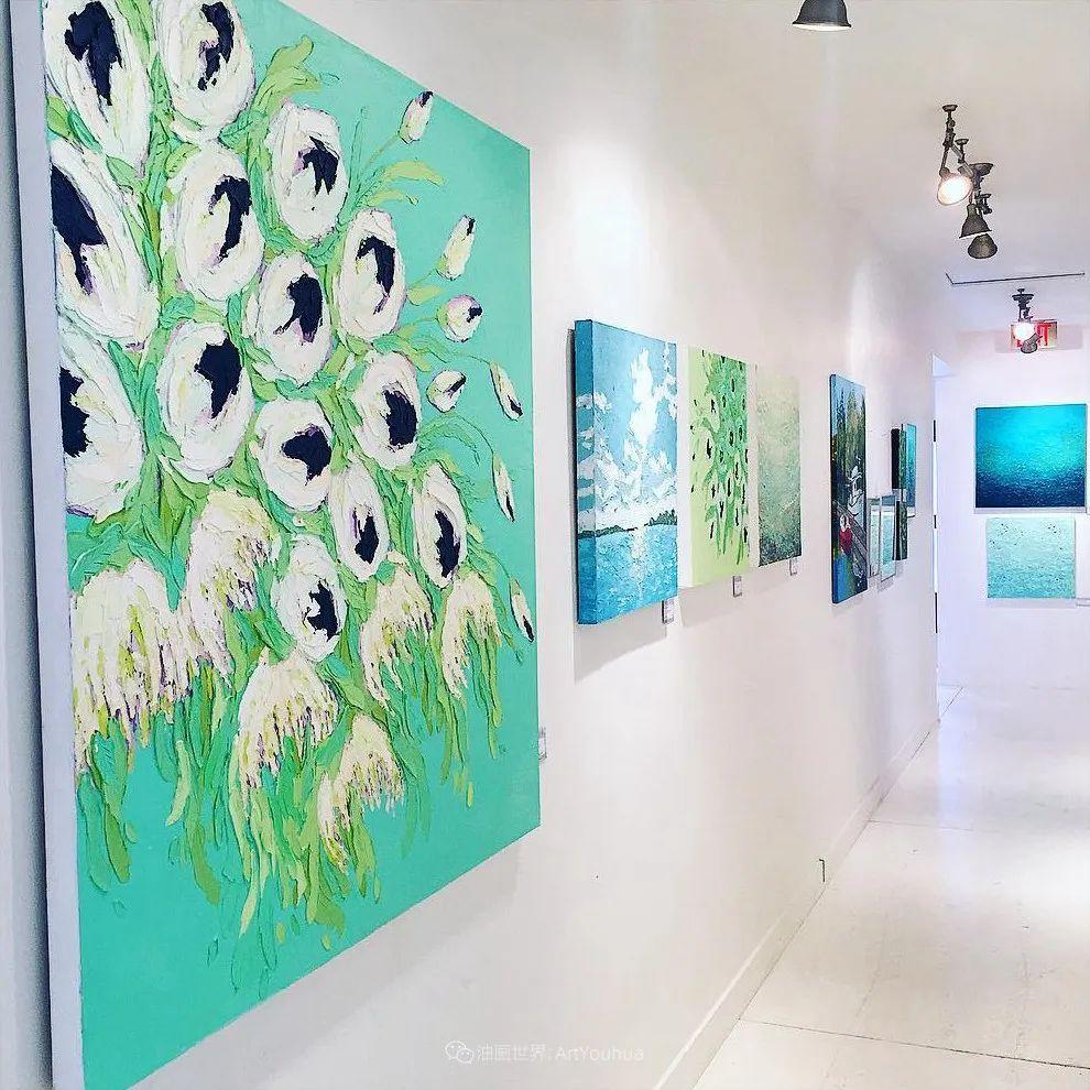 她让油画颜料像奶油,绘出厚重富有立体感的花卉,惊艳!插图97