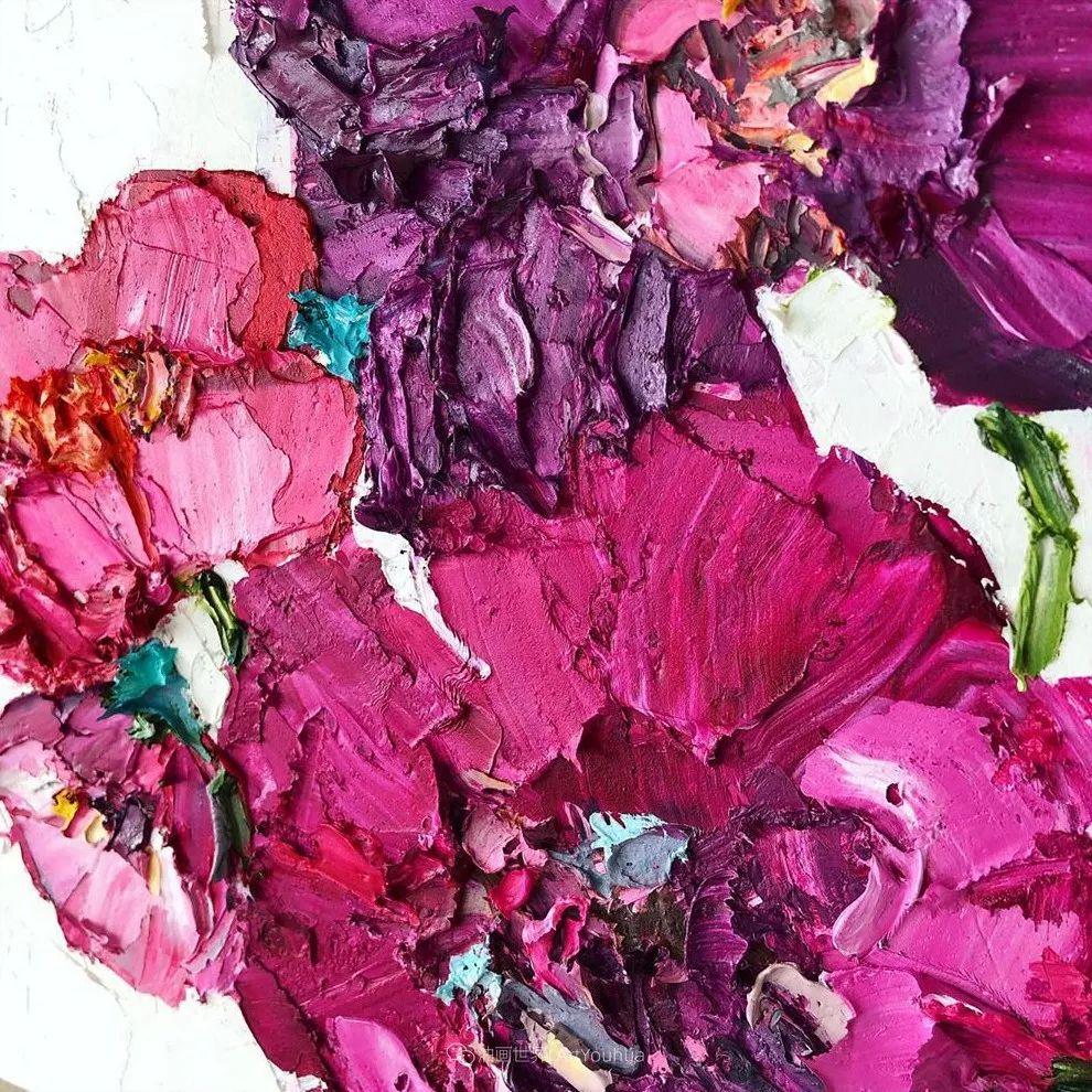 她让油画颜料像奶油,绘出厚重富有立体感的花卉,惊艳!插图99