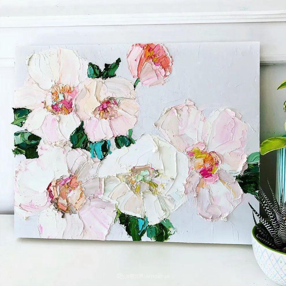 她让油画颜料像奶油,绘出厚重富有立体感的花卉,惊艳!插图101