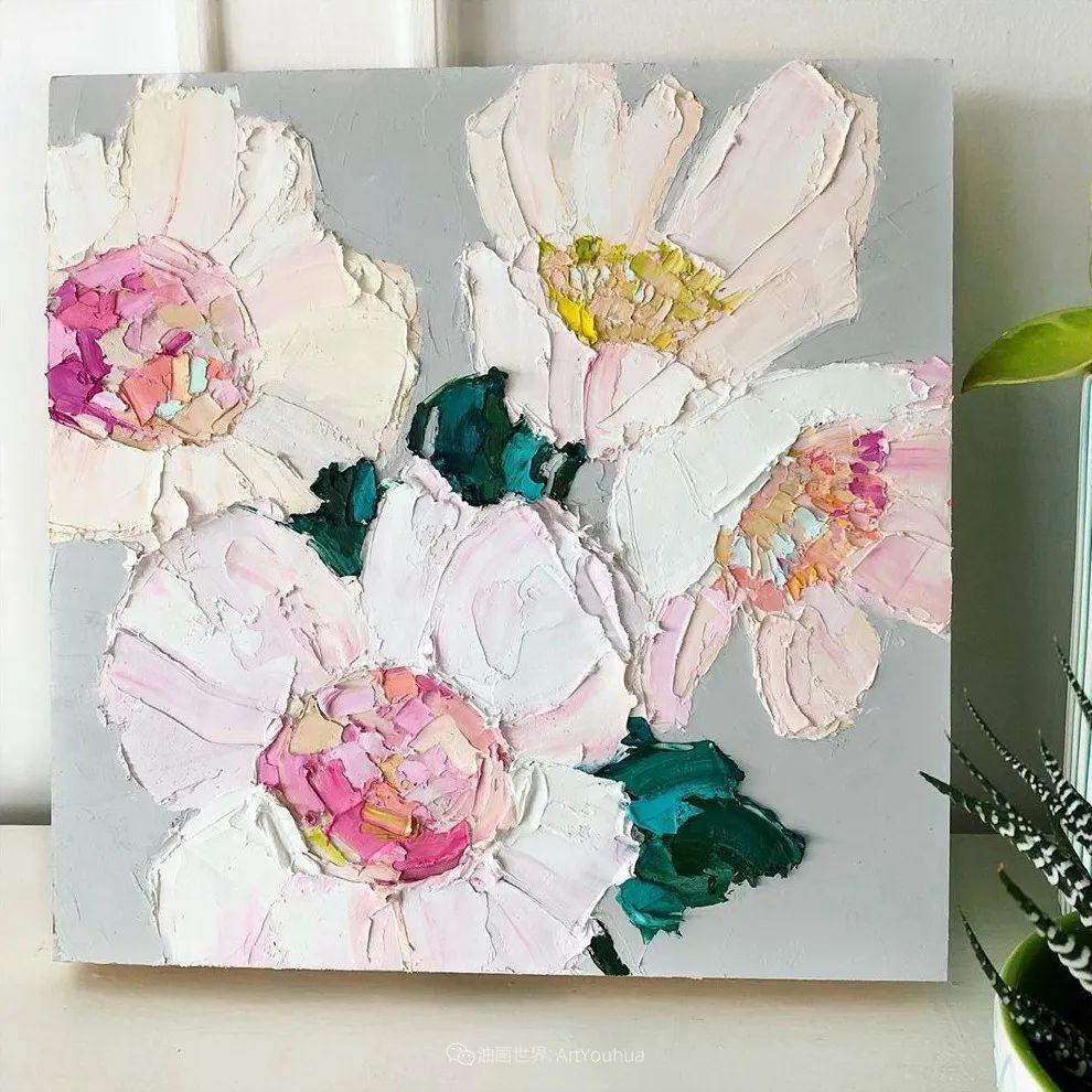 她让油画颜料像奶油,绘出厚重富有立体感的花卉,惊艳!插图103