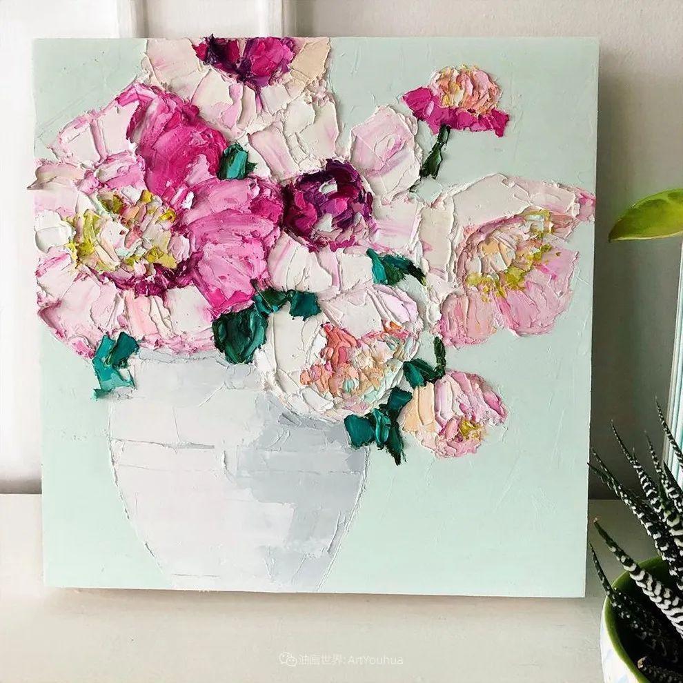 她让油画颜料像奶油,绘出厚重富有立体感的花卉,惊艳!插图105