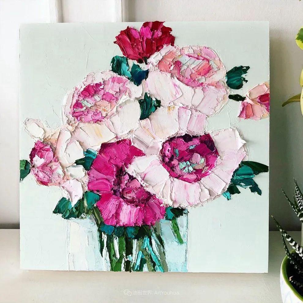 她让油画颜料像奶油,绘出厚重富有立体感的花卉,惊艳!插图107