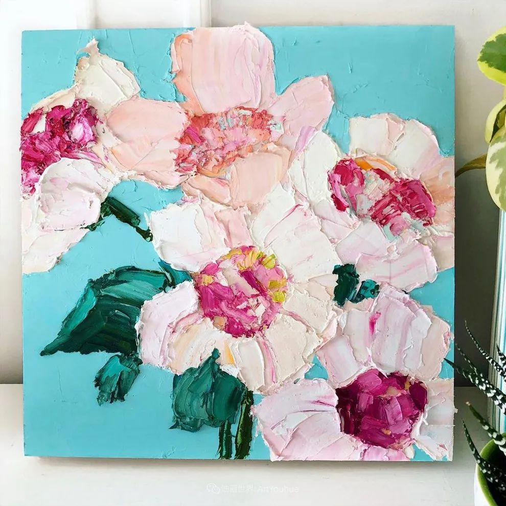 她让油画颜料像奶油,绘出厚重富有立体感的花卉,惊艳!插图111