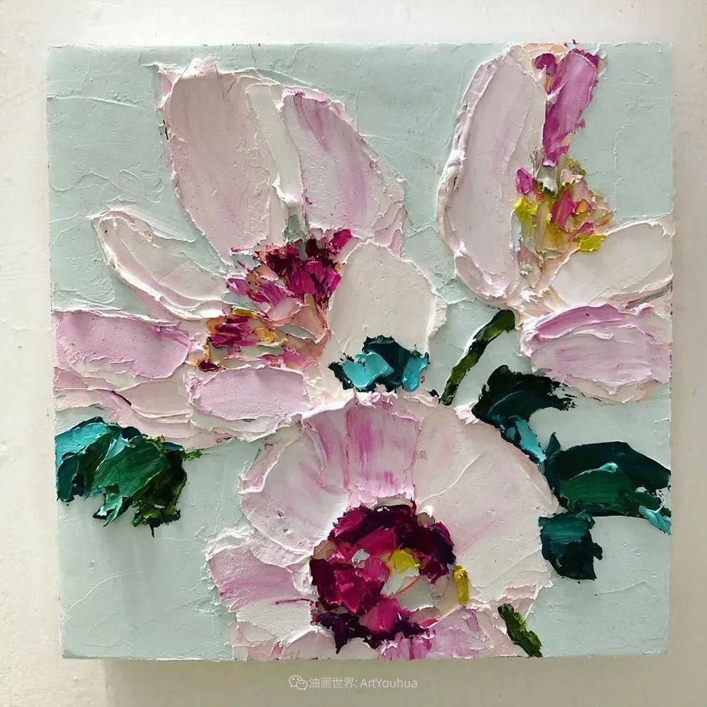 她让油画颜料像奶油,绘出厚重富有立体感的花卉,惊艳!插图113