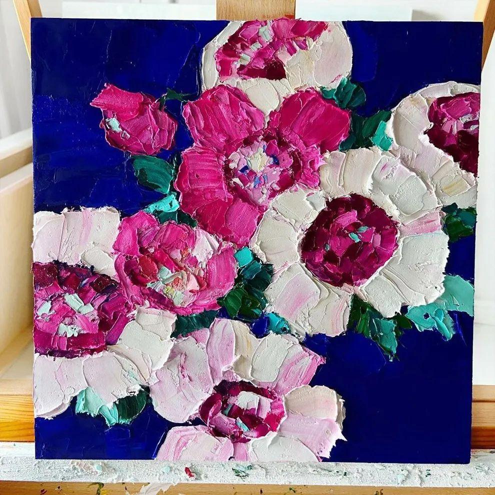 她让油画颜料像奶油,绘出厚重富有立体感的花卉,惊艳!插图117