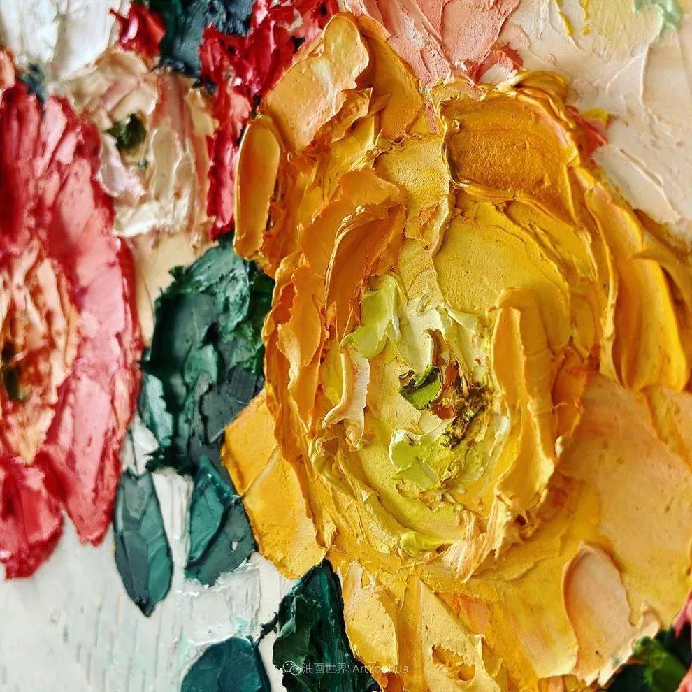 她让油画颜料像奶油,绘出厚重富有立体感的花卉,惊艳!插图127