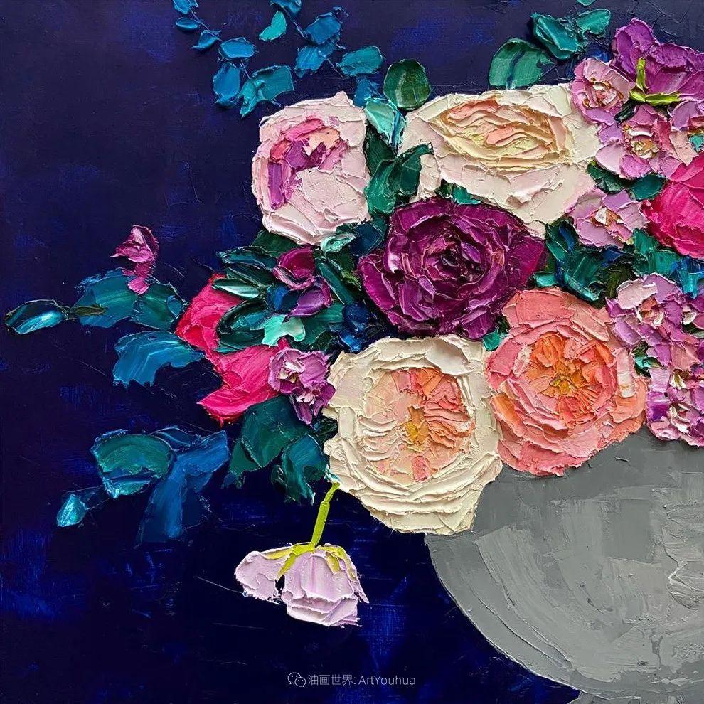 她让油画颜料像奶油,绘出厚重富有立体感的花卉,惊艳!插图131