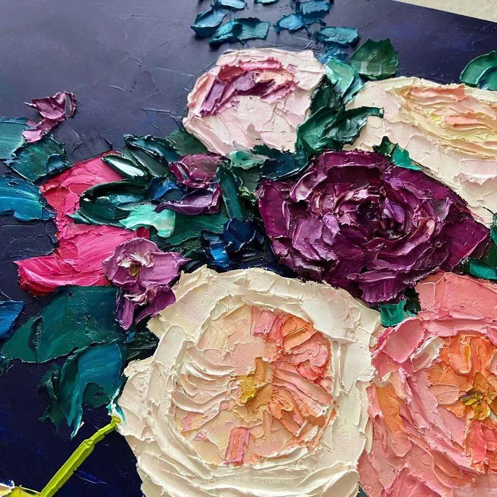 她让油画颜料像奶油,绘出厚重富有立体感的花卉,惊艳!插图133