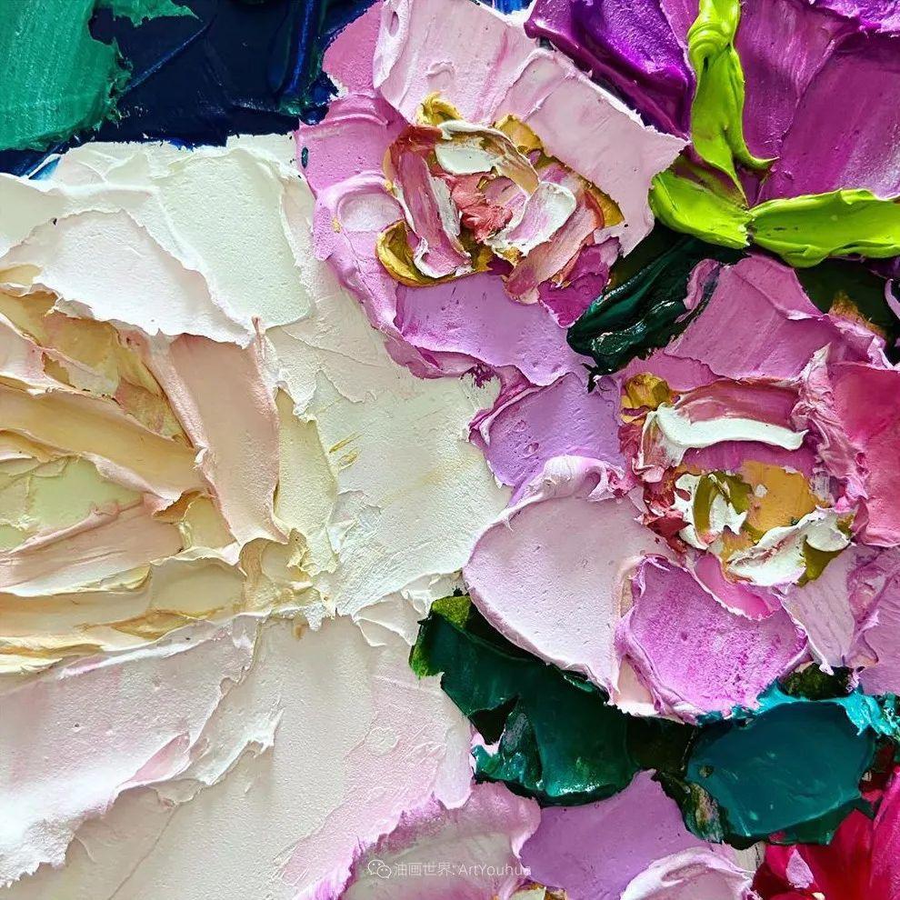 她让油画颜料像奶油,绘出厚重富有立体感的花卉,惊艳!插图135