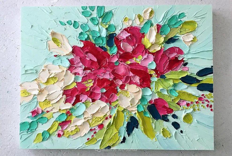 她让油画颜料像奶油,绘出厚重富有立体感的花卉,惊艳!插图137