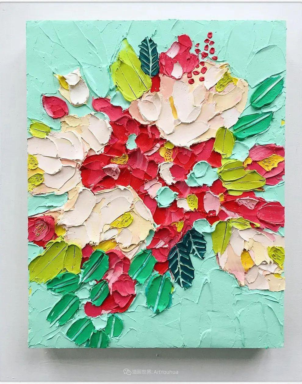 她让油画颜料像奶油,绘出厚重富有立体感的花卉,惊艳!插图139