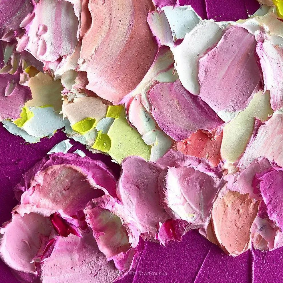 她让油画颜料像奶油,绘出厚重富有立体感的花卉,惊艳!插图141