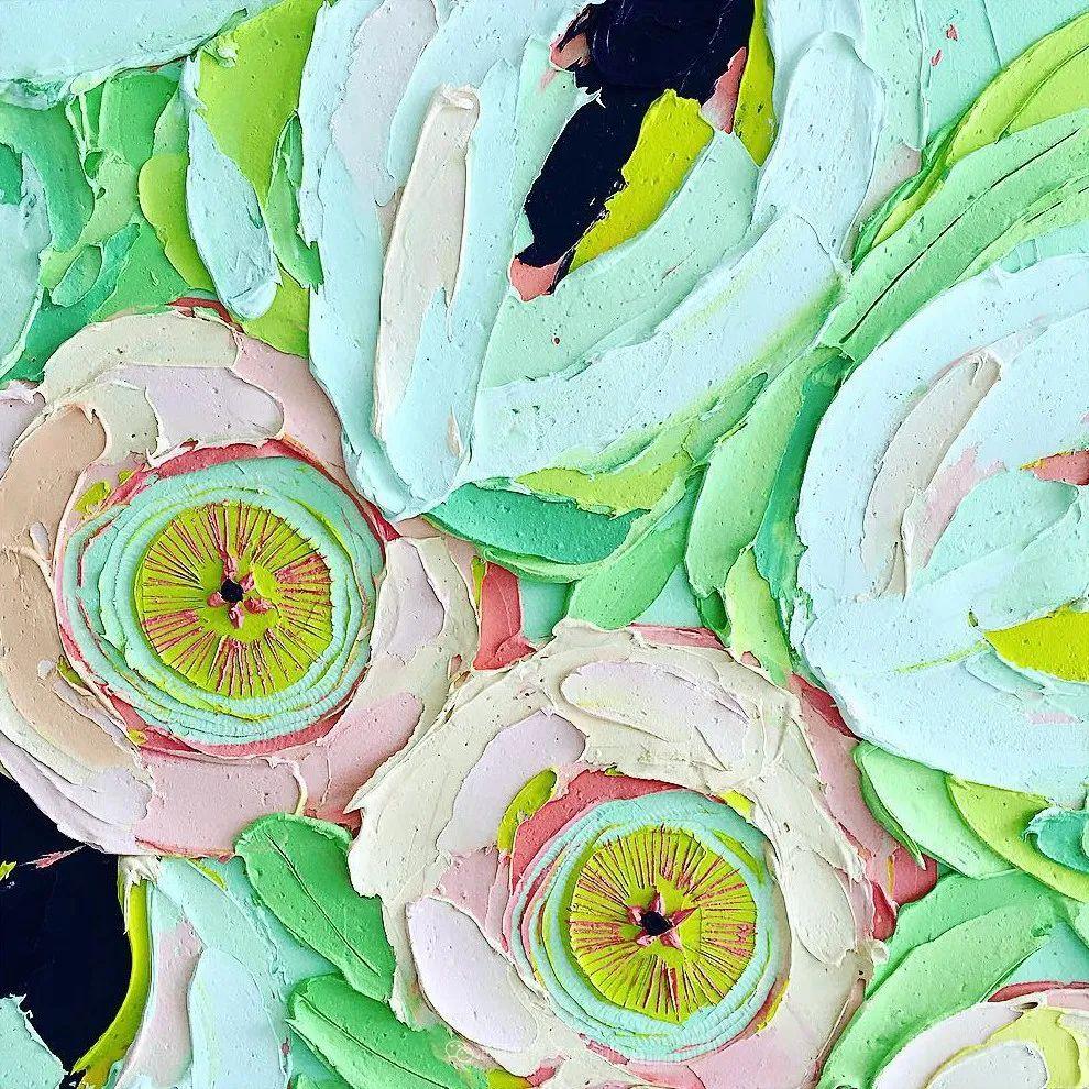 她让油画颜料像奶油,绘出厚重富有立体感的花卉,惊艳!插图143