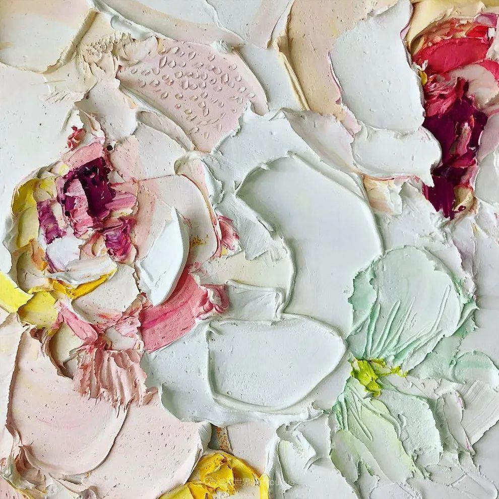 她让油画颜料像奶油,绘出厚重富有立体感的花卉,惊艳!插图145