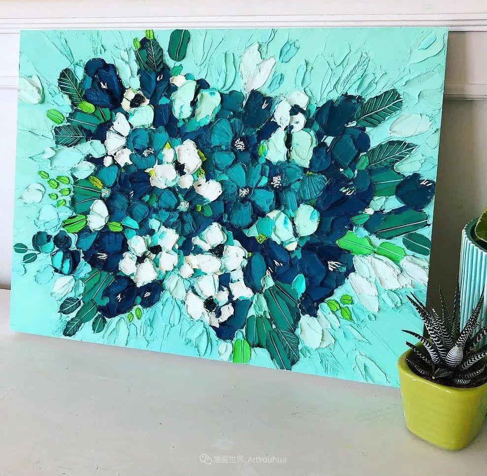 她让油画颜料像奶油,绘出厚重富有立体感的花卉,惊艳!插图149