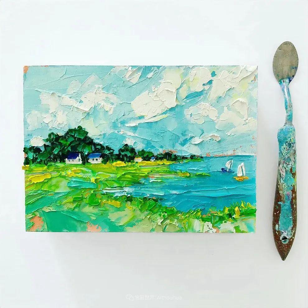 她让油画颜料像奶油,绘出厚重富有立体感的花卉,惊艳!插图151