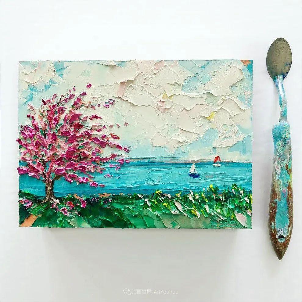 她让油画颜料像奶油,绘出厚重富有立体感的花卉,惊艳!插图153