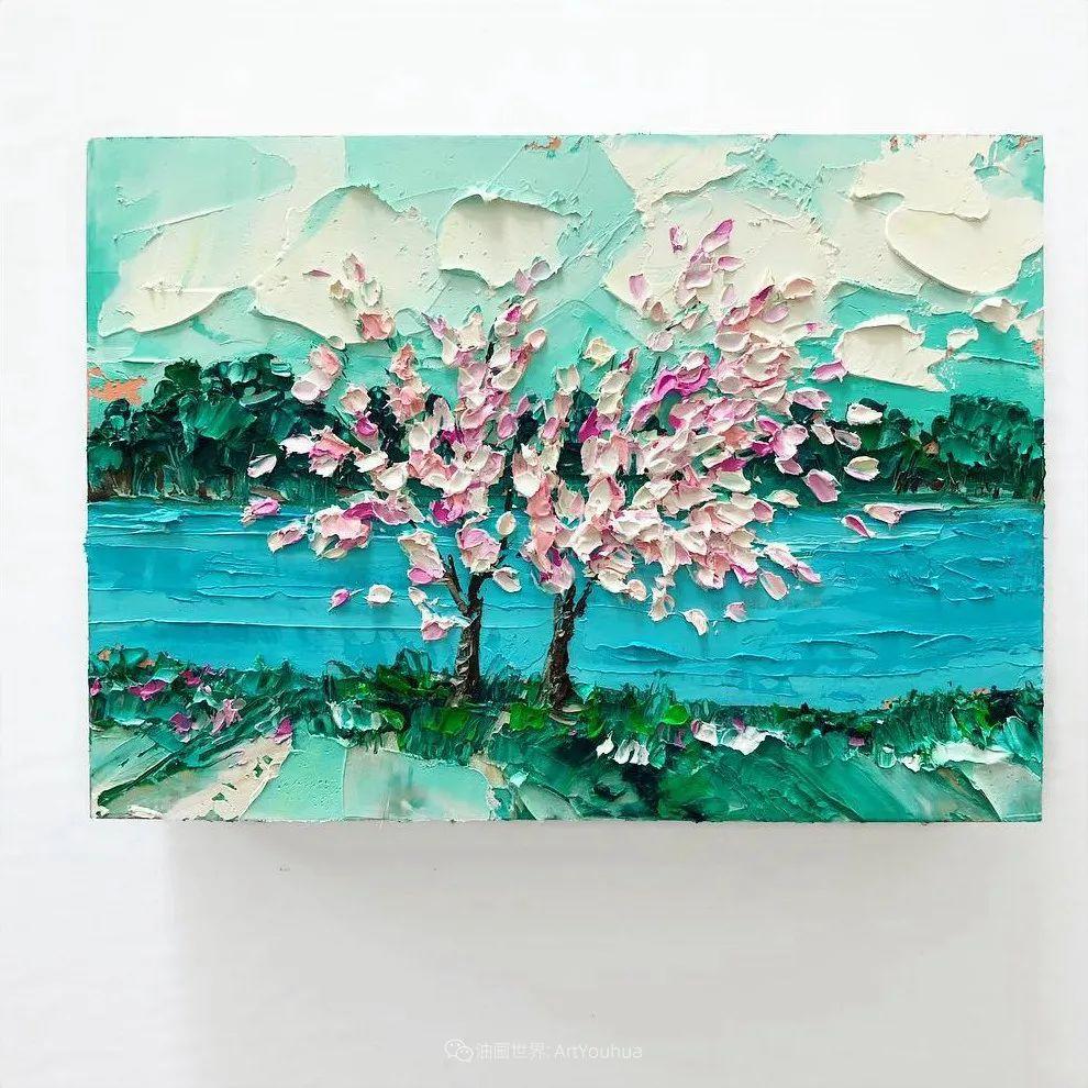 她让油画颜料像奶油,绘出厚重富有立体感的花卉,惊艳!插图155