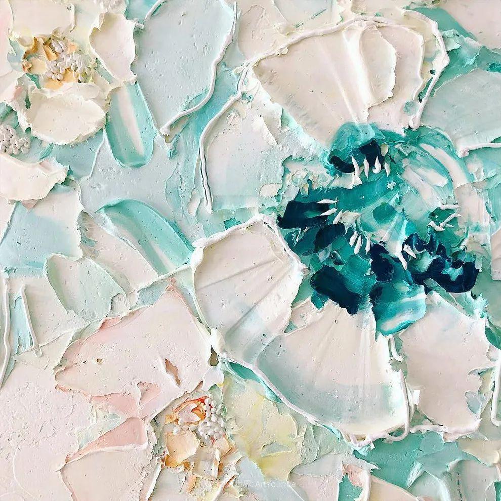 她让油画颜料像奶油,绘出厚重富有立体感的花卉,惊艳!插图161