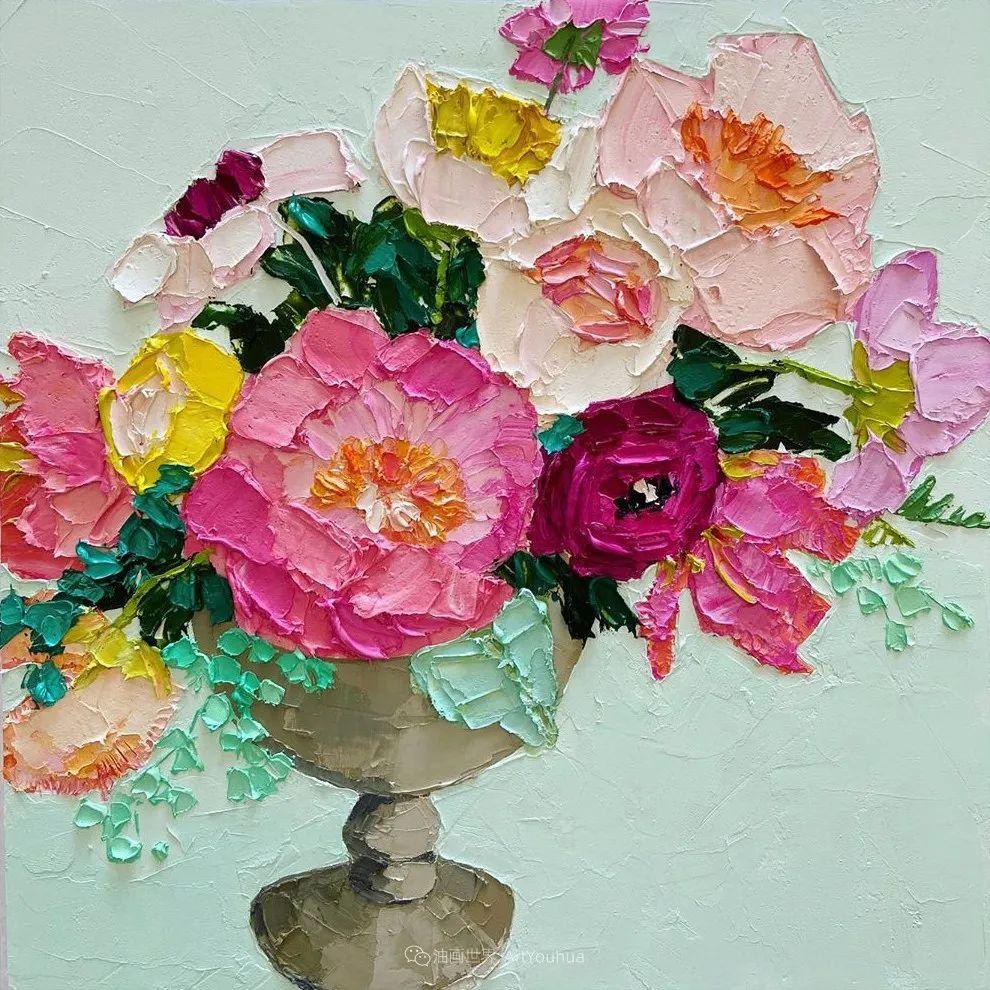 她让油画颜料像奶油,绘出厚重富有立体感的花卉,惊艳!插图163