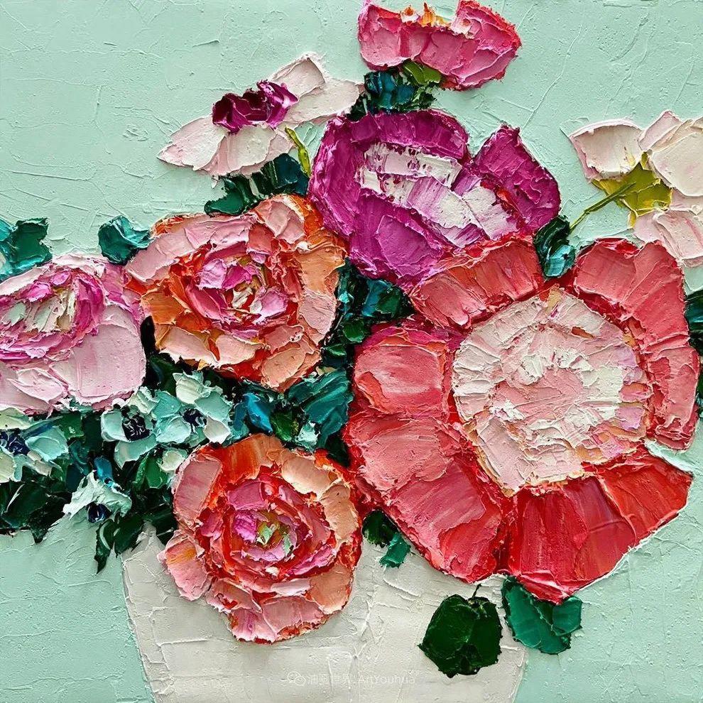 她让油画颜料像奶油,绘出厚重富有立体感的花卉,惊艳!插图165