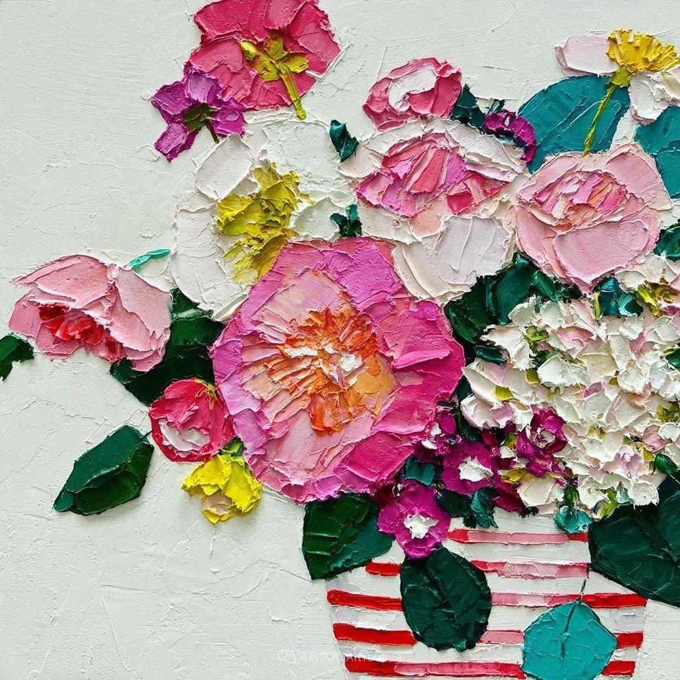 她让油画颜料像奶油,绘出厚重富有立体感的花卉,惊艳!插图167