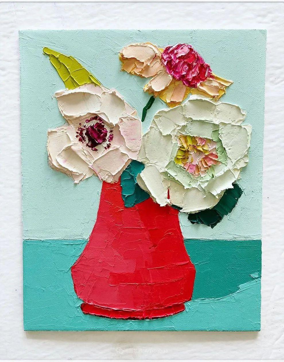 她让油画颜料像奶油,绘出厚重富有立体感的花卉,惊艳!插图169
