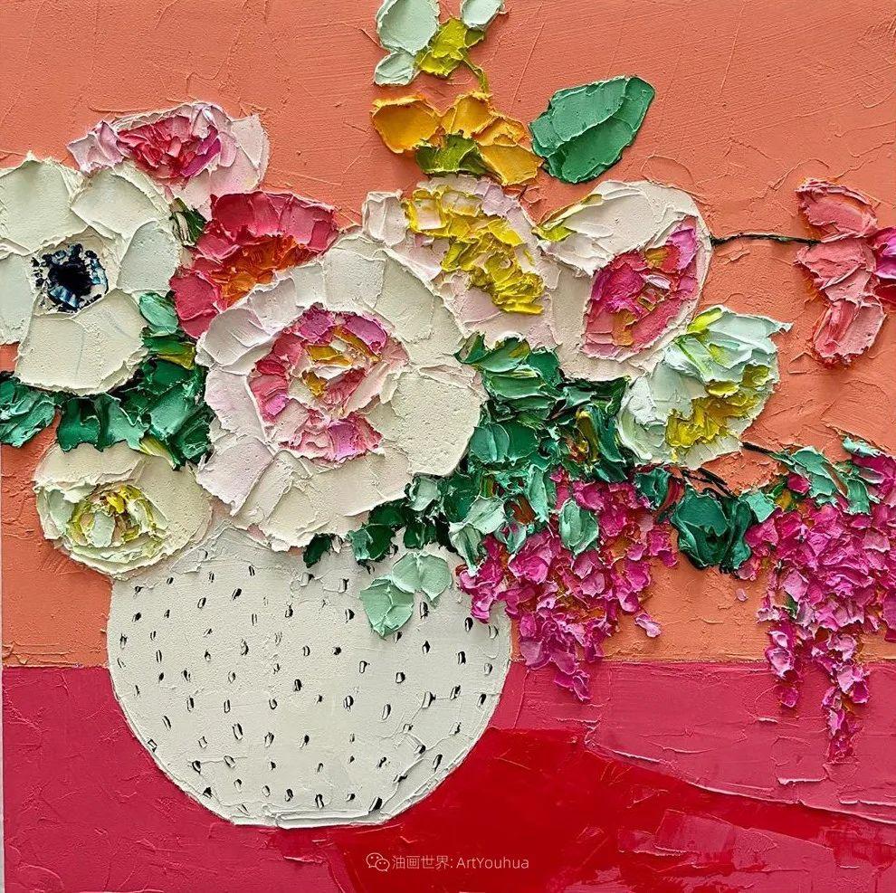她让油画颜料像奶油,绘出厚重富有立体感的花卉,惊艳!插图171