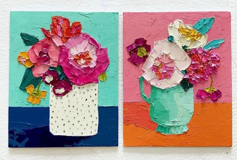 她让油画颜料像奶油,绘出厚重富有立体感的花卉,惊艳!插图173