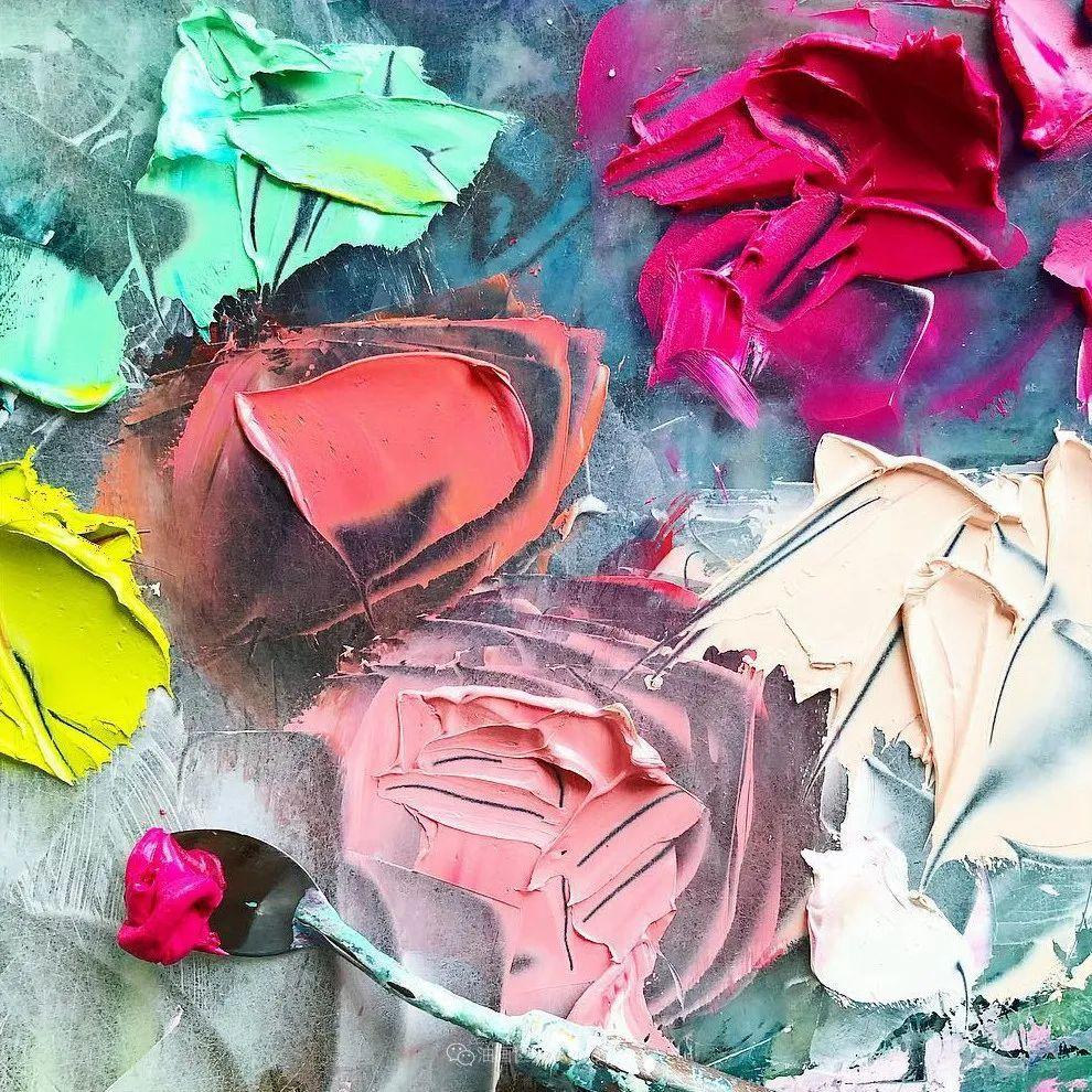 她让油画颜料像奶油,绘出厚重富有立体感的花卉,惊艳!插图177