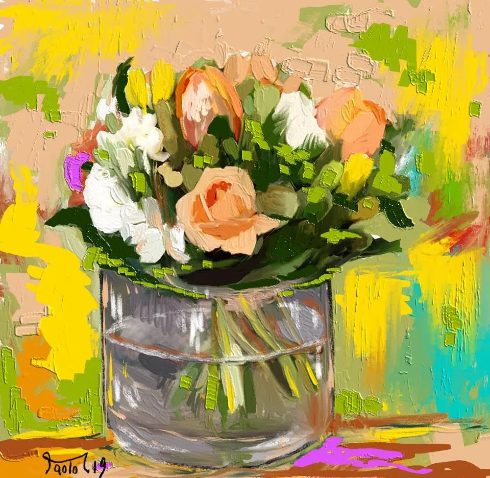 独特的笔触,别样的花卉,美!插图1