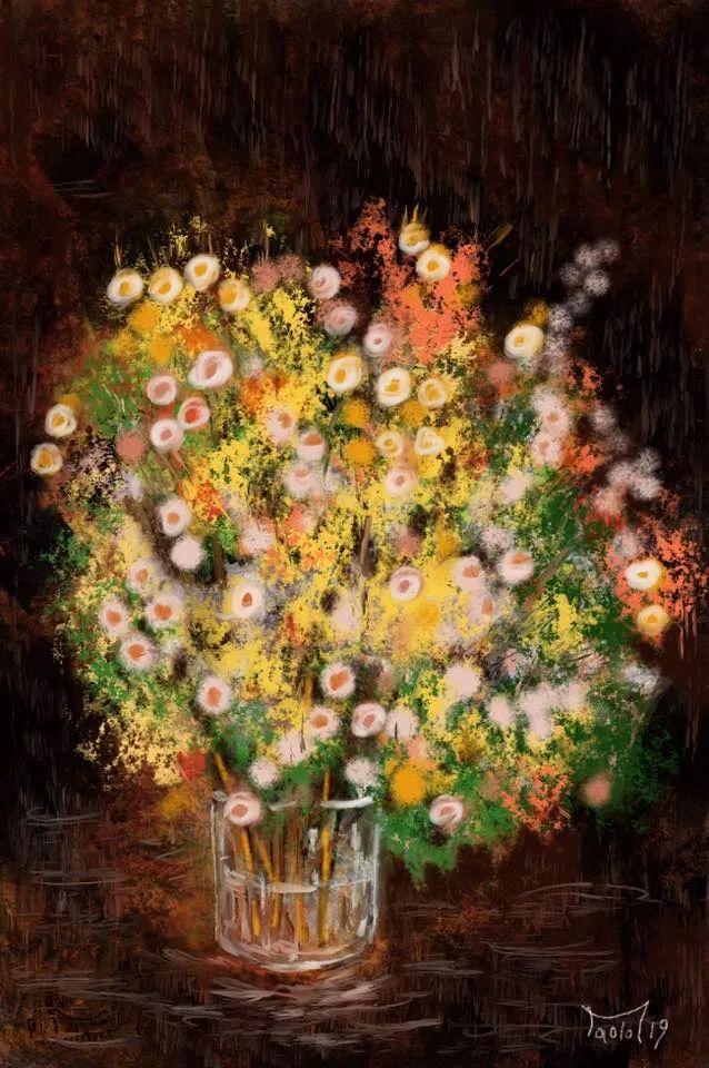 独特的笔触,别样的花卉,美!插图12