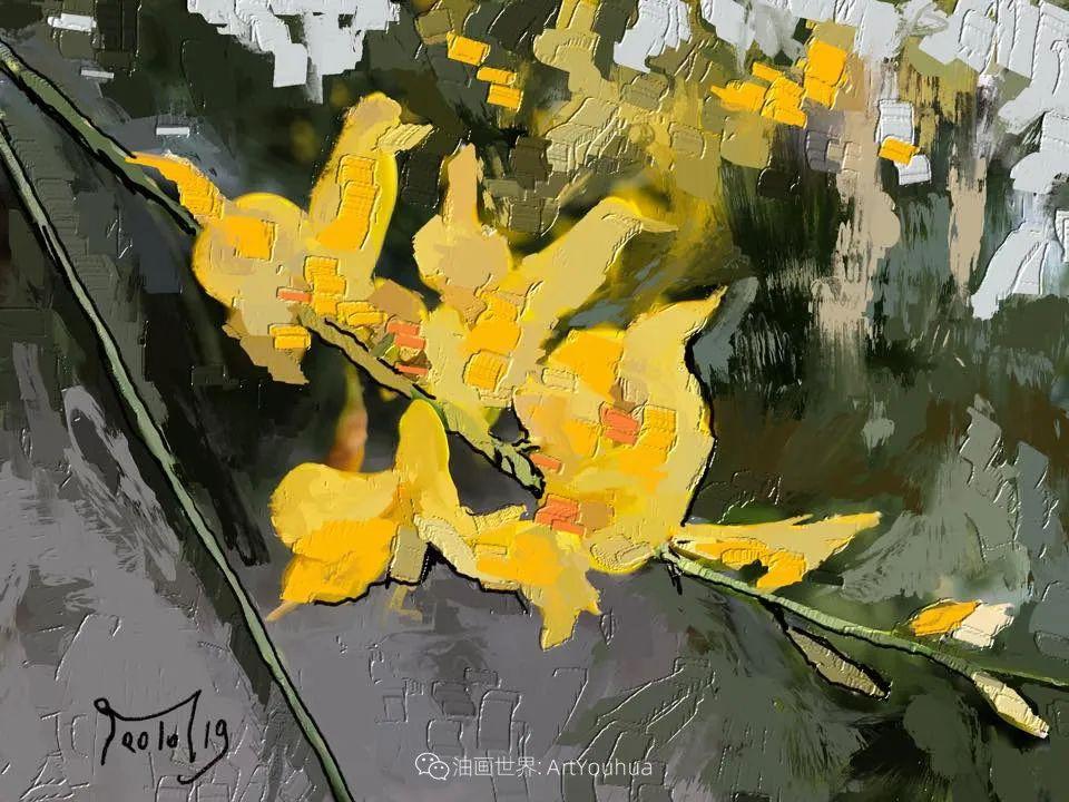 独特的笔触,别样的花卉,美!插图36
