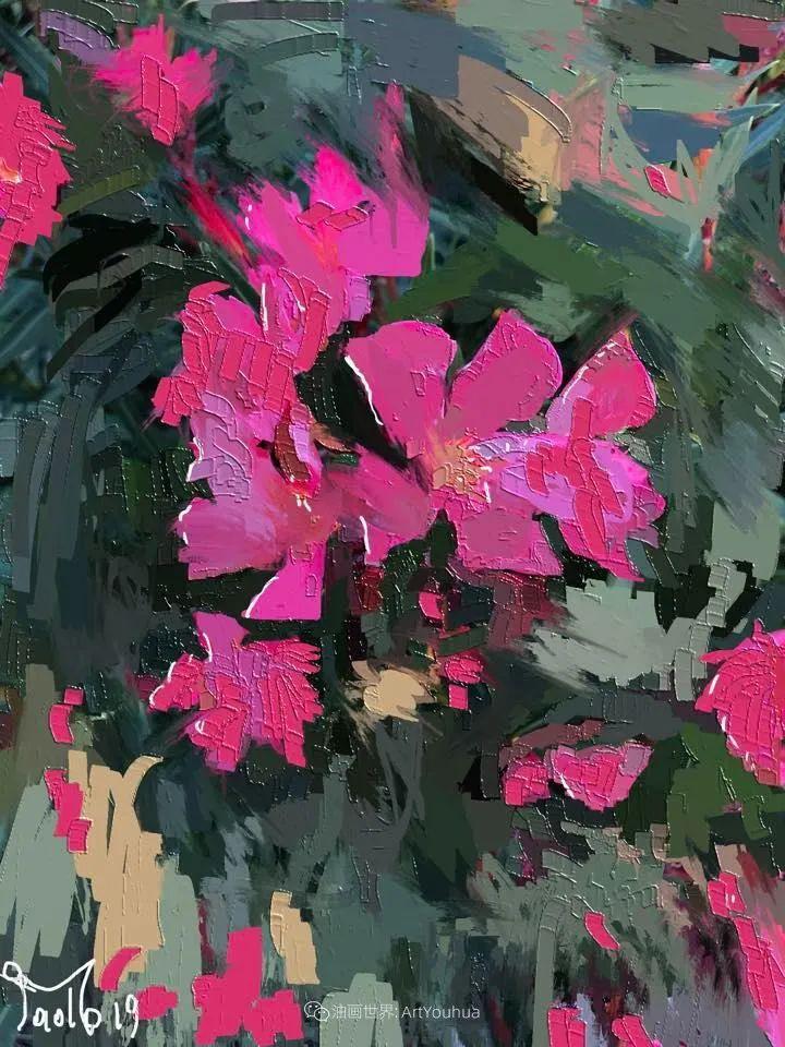 独特的笔触,别样的花卉,美!插图37