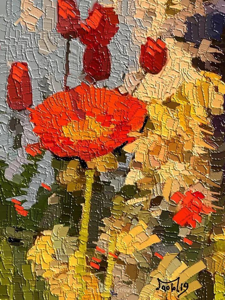 独特的笔触,别样的花卉,美!插图46
