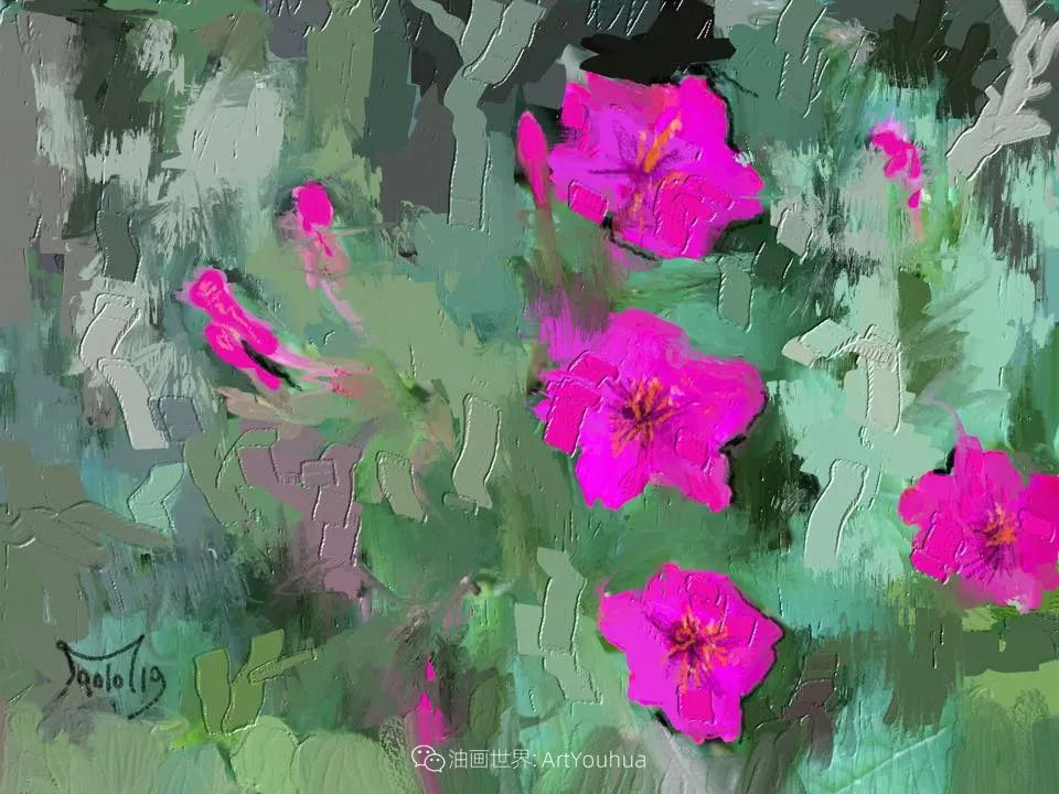 独特的笔触,别样的花卉,美!插图49