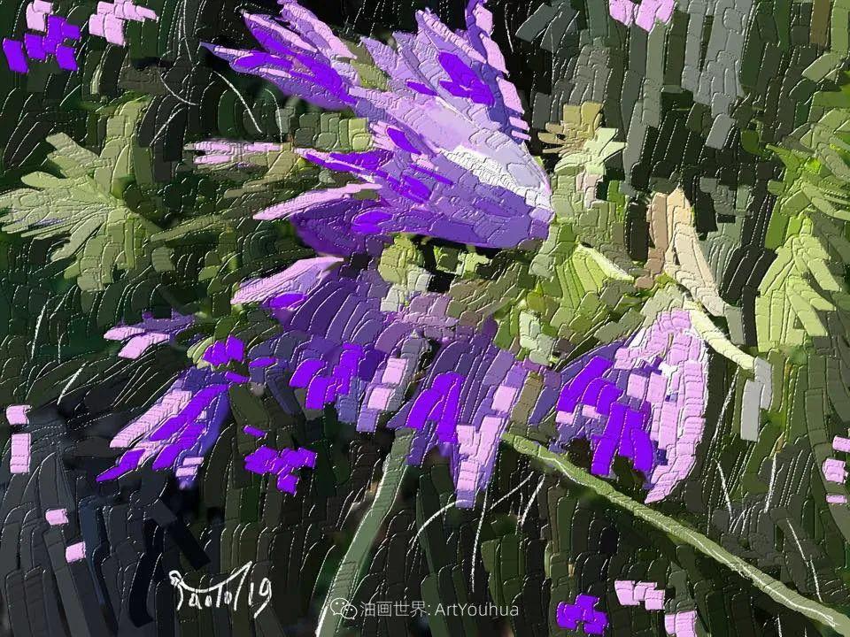 独特的笔触,别样的花卉,美!插图51