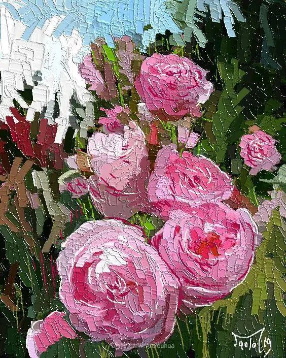 独特的笔触,别样的花卉,美!插图54