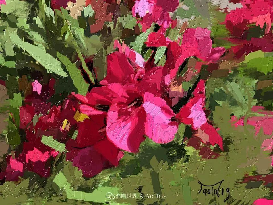 独特的笔触,别样的花卉,美!插图56