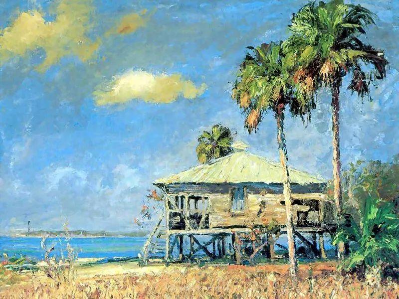 他自学成才,被称为是佛罗里达州画家的院长插图63
