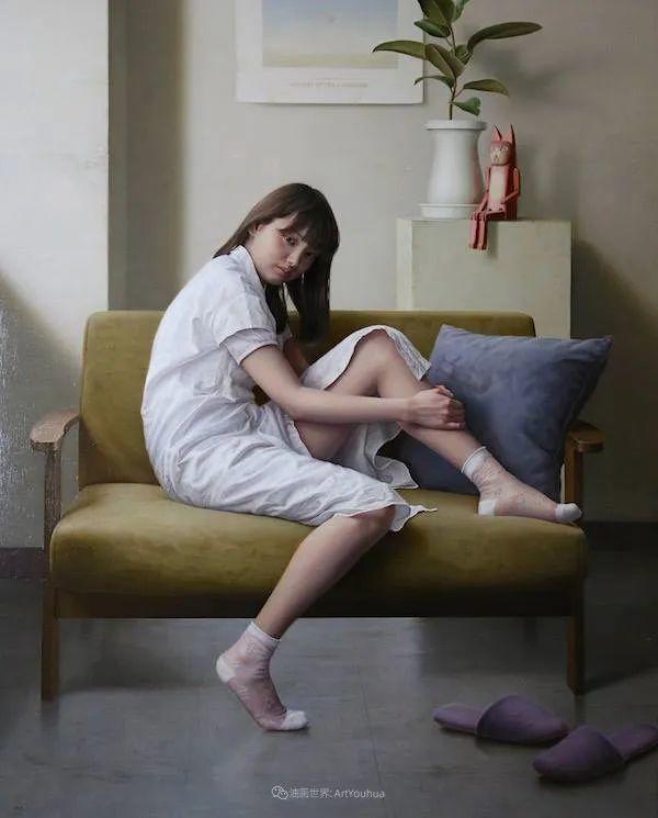 作品细腻逼真,日本超写实画家冨所龍人插图20