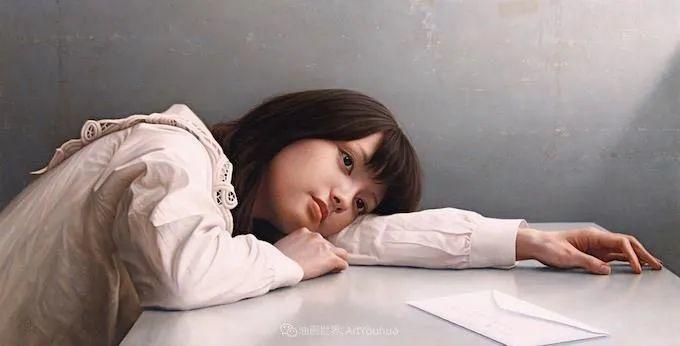 作品细腻逼真,日本超写实画家冨所龍人插图34