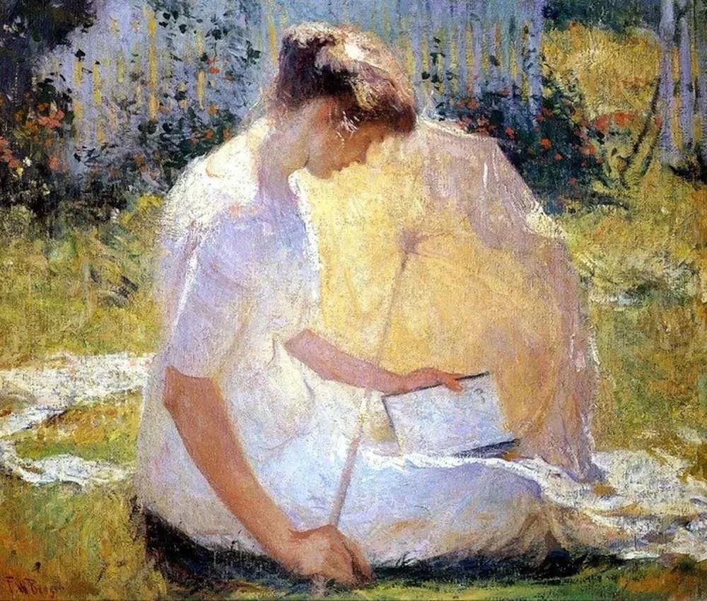 专注于捕捉光线,美国画家弗兰克·韦斯顿·本森插图1