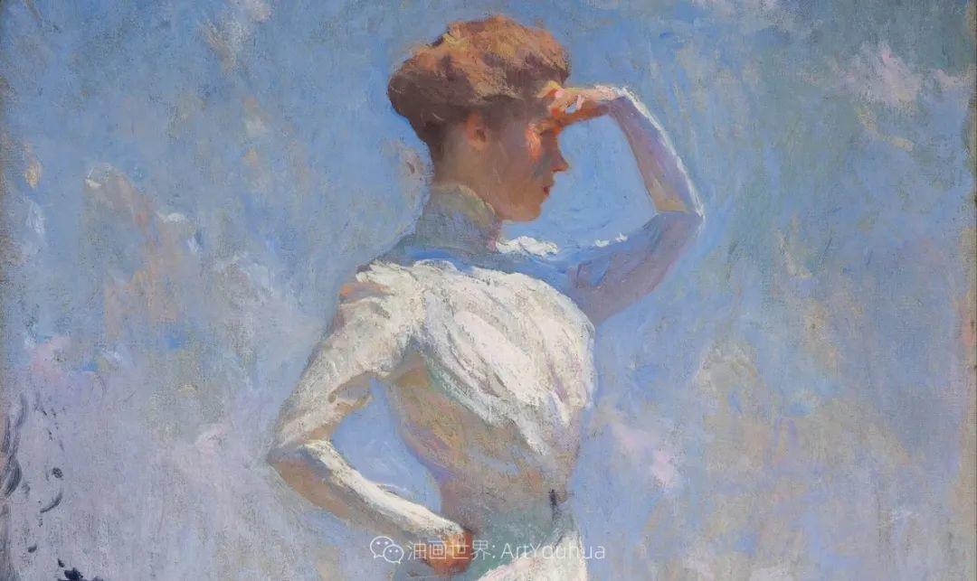 专注于捕捉光线,美国画家弗兰克·韦斯顿·本森插图47