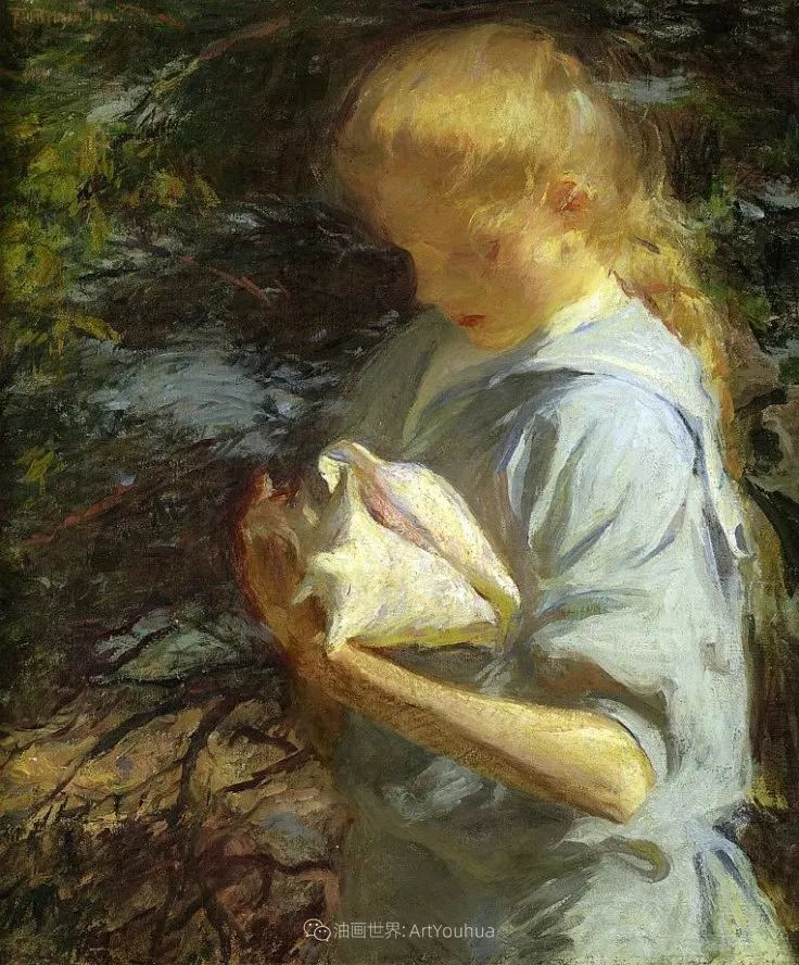 专注于捕捉光线,美国画家弗兰克·韦斯顿·本森插图91