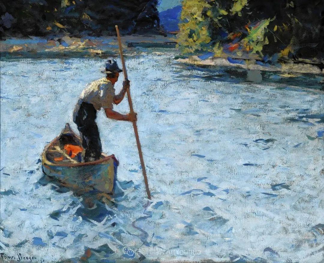 专注于捕捉光线,美国画家弗兰克·韦斯顿·本森插图105