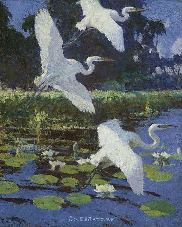 专注于捕捉光线,美国画家弗兰克·韦斯顿·本森插图109
