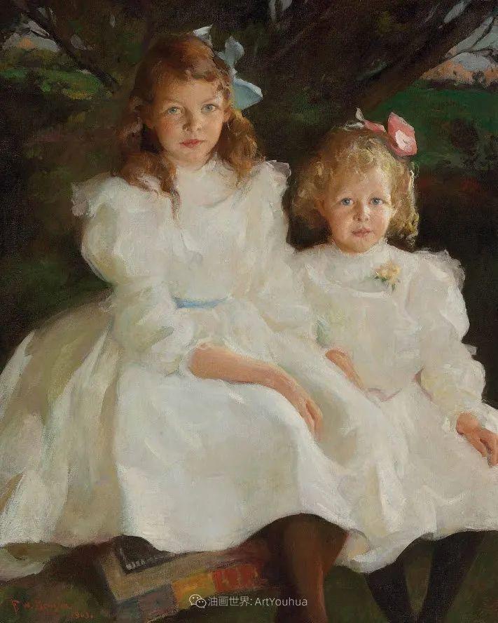 专注于捕捉光线,美国画家弗兰克·韦斯顿·本森插图129