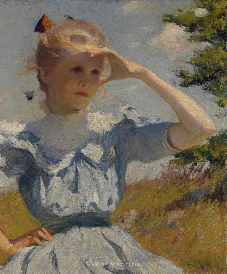 专注于捕捉光线,美国画家弗兰克·韦斯顿·本森插图131