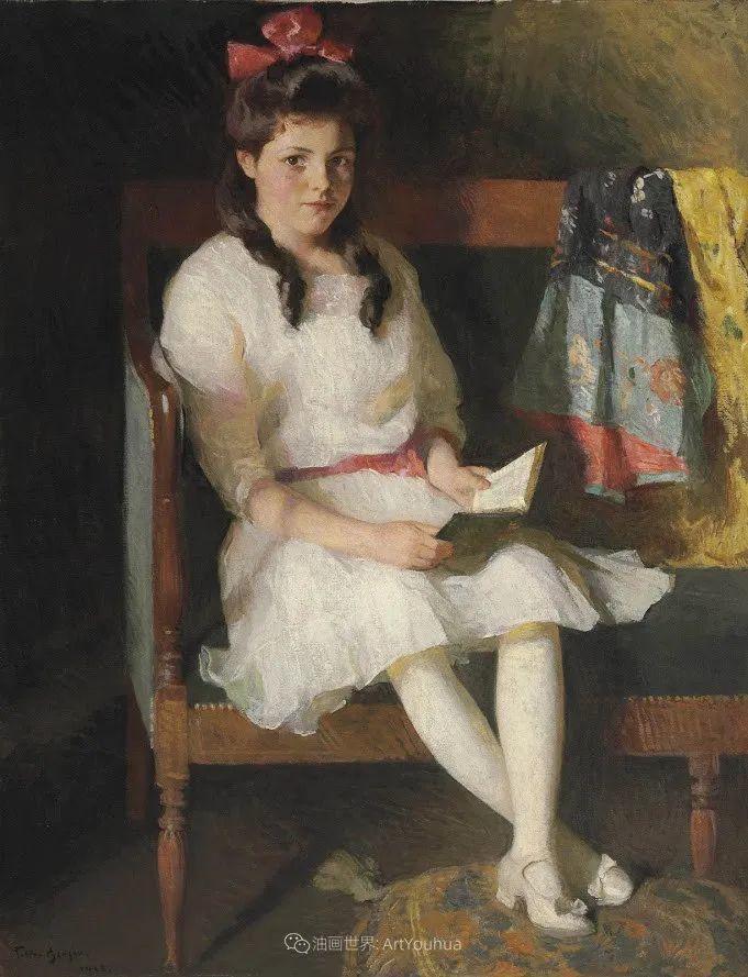 专注于捕捉光线,美国画家弗兰克·韦斯顿·本森插图137